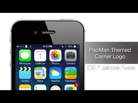 PacMan Themed Carrier Logo - iPhone Hacks
