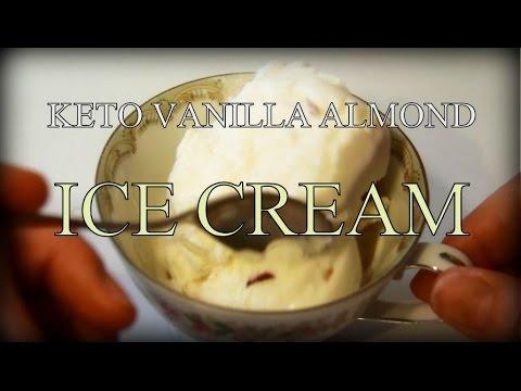 KETO VANILLA ALMOND ICE CREAM! EASY & DELICIOUS