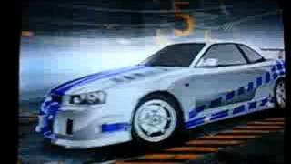 NFS Pro Street The Fast and the Furious Decals