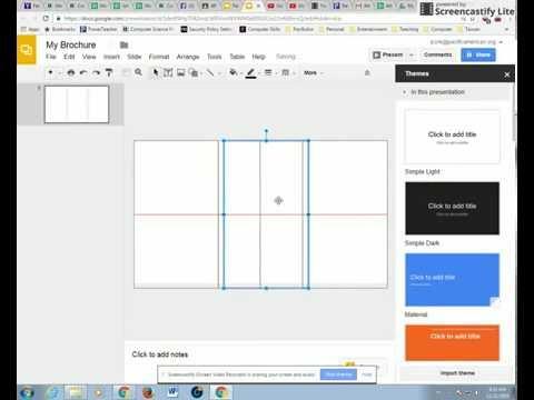 Brochure (Step 1) - Google Slides - Creating a Brochure Template in Google Slides