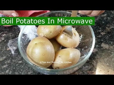 Boil Potatoes In Microwave | How To Boil Potato In Microwave With Skin Without Water