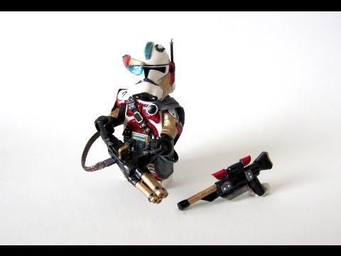 You Pick I Paint: Custom LEGO - Star Wars Clone Gunner Sniper