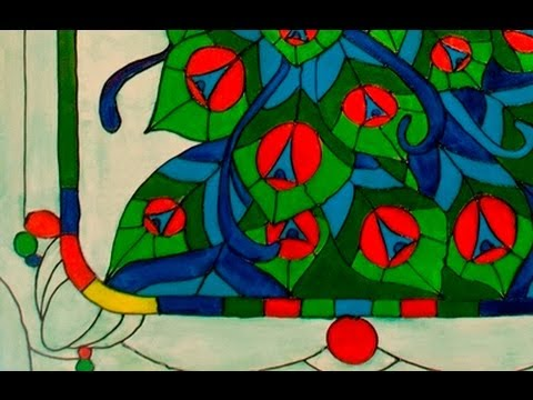 Art Lesson: How to Paint a Peacock Like a Stained-Glass Window