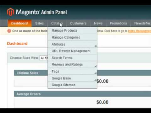Creating & Manipulating Menu's in Magento - Building eBusiness