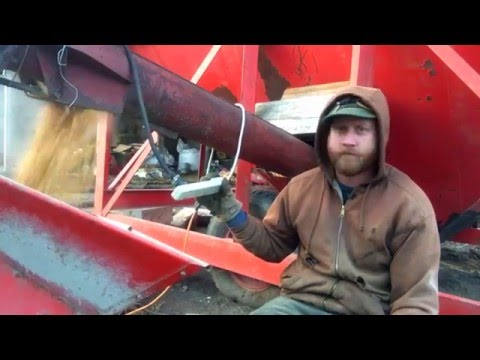 Grinding Pig Feed with a Beginning Farmer