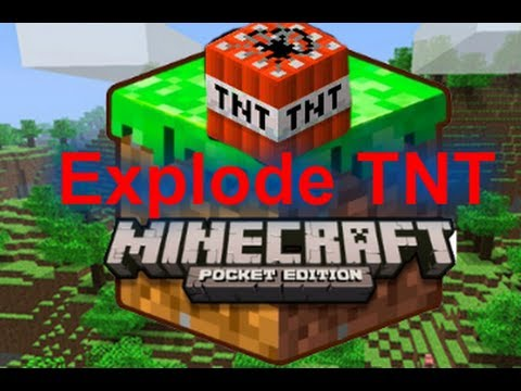 Minecraft PE: How To Explode TNT (iOS)