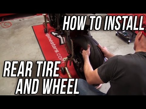 How To Install a Rear Motorcycle Tire and Wheel from SportbikeTrackGear.com