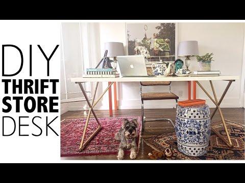 DIY Thrift Store Desk |  Home Decor