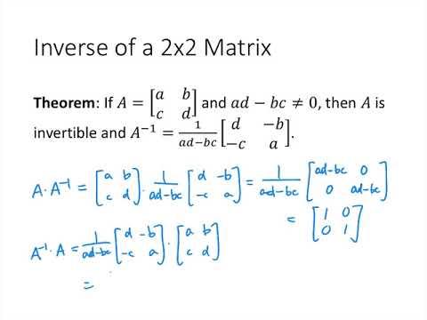 Linear Algebra - Lecture 23 - The Inverse of a Matrix