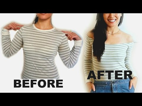 DIY: EASY Off Shoulder Top -BEFORE & AFTER