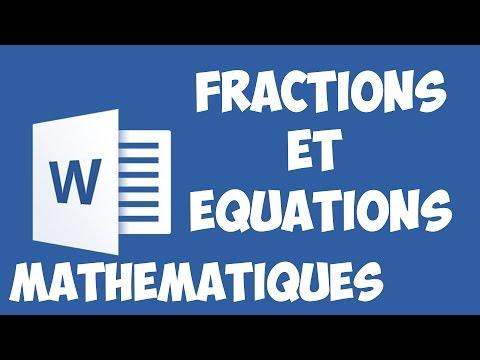 Word 2016 - Insérer des fractions et autres équations mathématiques