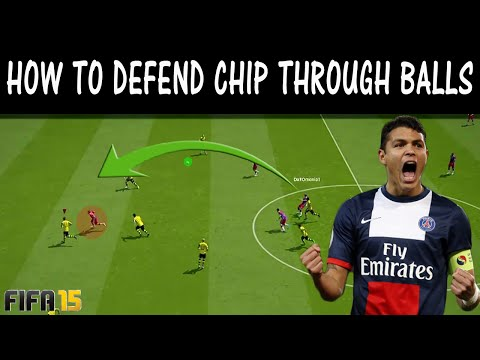 FIFA 15 TUTORIAL HOW TO DEFEND CHIP THROUGH BALLS / How To Stop Long Passes / Ultimate Team & H2H
