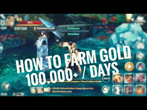 How to farm 100k+ gold/days | Aura kingdom mobile