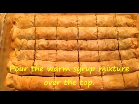 Afghani baklava Roll recipe - Ramadan special - In English subtitles