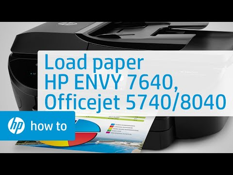 Loading Plain and Specialty Paper in the HP ENVY 7640, Officejet 5740, and Officejet 8040 Series