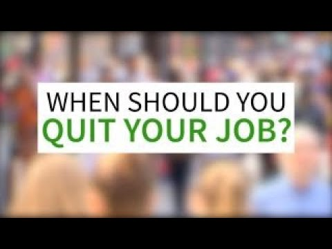 What's a good reason to quit a job?