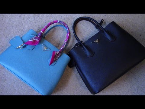 PRADA DOUBLE/CUIR BAG What fits 'Small to Mini'
