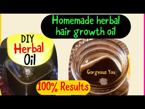 Homemade Herbal Hair Growth Oil, Get Long And Thick Hair,Stop Hair Loss|Gorgeous You|