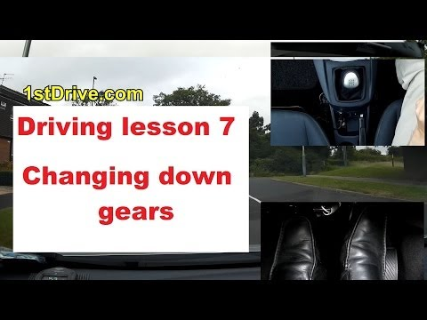 How to change gears down in a car