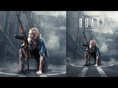 Movie Poster Photoshop Tutorial - Brave