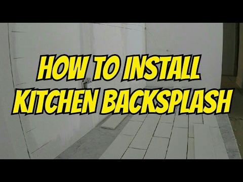 HOW TO INSTALL A KITCHEN BACKSPLASH - SUBWAY TILE DIY