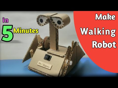 How to Make  a  Robot  at Home from Cardboard | Simple Walking Robot from Cardboard
