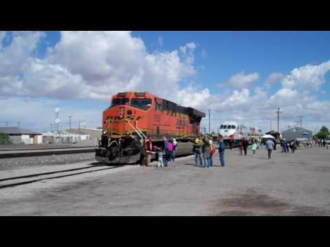 El Paso and Las Cruces Railfanning & Displays at Las Cruces Railroad Days 4/29/17