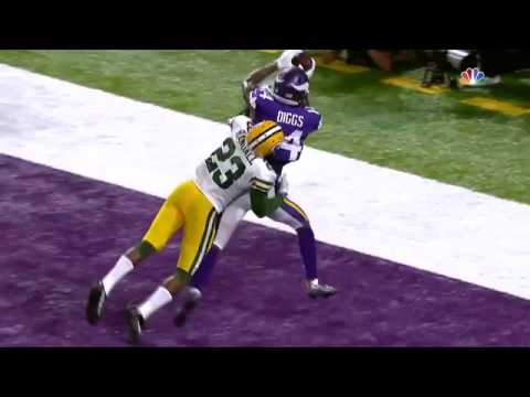 Stefon Diggs Comes Down with an Awesome TD Catch! | Packers vs. Vikings | NFL