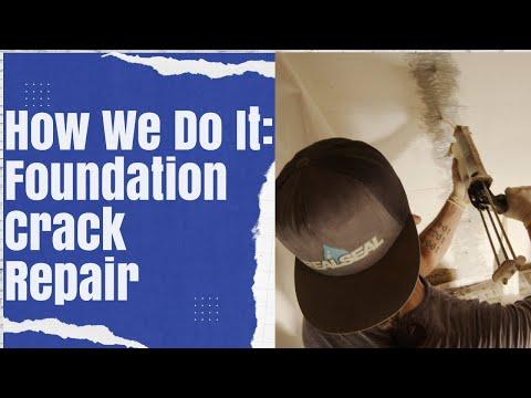 How We Do It: Foundation Crack Repair