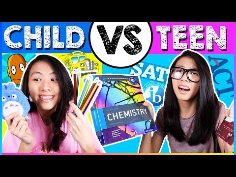 CHILD You VS. TEEN You! MIDDLE SCHOOL VS. HIGH SCHOOL: Back to School 2016-2017