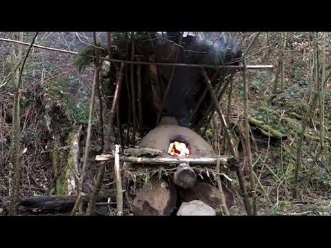 How to build a bushcraft clay oven / Bauanleitung für einen Bushcraft- Lehmofen