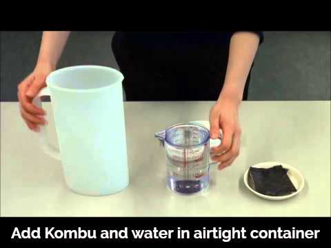 How to Make Kombu Dashi from cold water