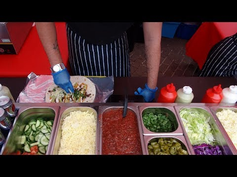 Mexican Street Food: Buying A Massive Vegetarian Wrap from