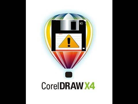 Corel Draw X4 Fail To Save, Print, Copy, Cut, Paste