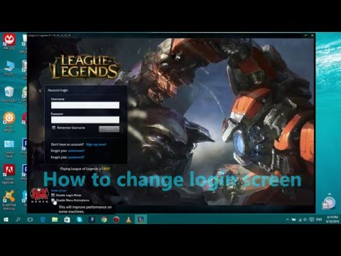 [TUT] How to change login screen league of legends +Download.