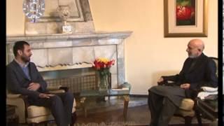 President Karzai at a meeting with NDS chief Asadullah Khalid-- April 03, 2013