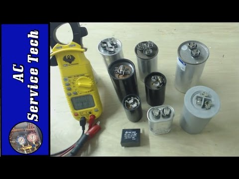 Testing and Checking the MFD uF rating of HVAC Capacitors- Start Capacitors and Run Capacitors!