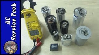 Testing And Checking The Mfd Uf Rating Of Hvac Capacitors Start Capac