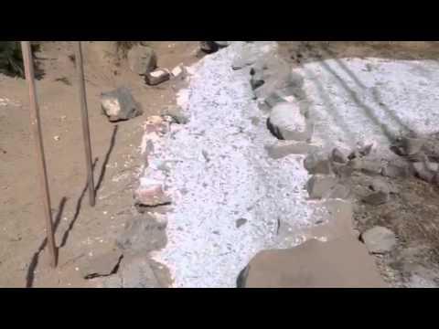 Rock wall, dry stack, no mortar,  retaining wall, basalt