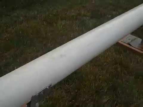 PVC rail setup