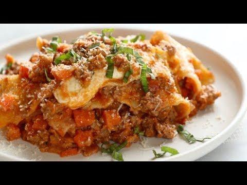 One Pot Meat Lasagna