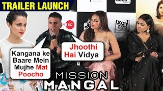 Akshay Kumar On Kangana, Makes Fun Of Female Co-Stars | Mission Mangal Trailer Launch | FULL EVENT