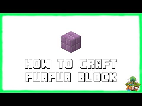 Minecraft 1.12.2: How to Craft Purpur Blocks! | Recipe Tutorial for Minecraft 1.12.2 | 2018