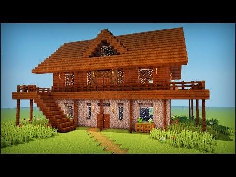 Minecraft: How to build a dark oak wooden house