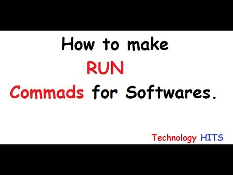 How To Make Your OWN RUN Command in few minutes ||Technology HITS...
