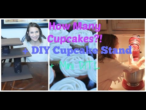 Mini DITL with Kids I How Many Cupcakes?! I DIY cupcake Stand