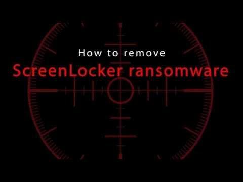 Remove ScreenLocker Ransomware
