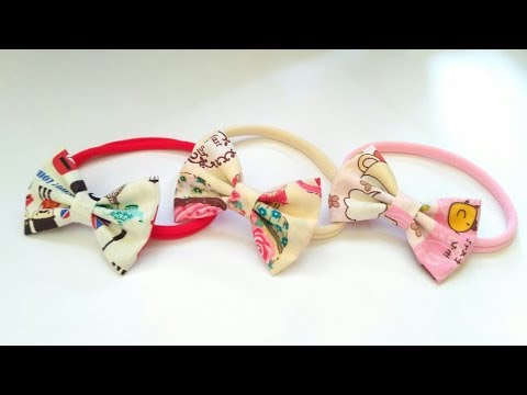 Headband Ideas : Simple Bow Without Sewing With Printed Cotton Fabric | DIY by Elysia Handmade