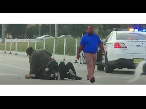 Concealed Carry Good Samariton Shoots Criminal Off Of Deputy On Florida Highway