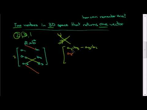 Very easy way to calculate the cross product - Linear Algebra -